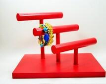 Jewelry Organizer - 3 Tier Bracelet Bar Holder - 30 Color Choices!