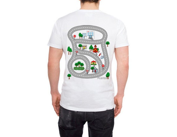 GIFT FOR DAD - My Daddy Playmat Tshirt for Fathers - Kids can play while Dad relaxes - Father's Day or Christmas Gift