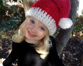 Santa Hat for babies, toddlers, and kids; Children's Crocheted Santa Hat, Christmas hat, Santa Photo Prop