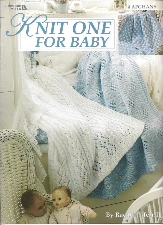 Knit One For Baby Leisure Arts 2687 Knit Baby Pattern