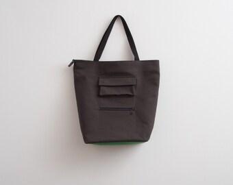 Tote Bag Dark Grey Bag Travel Bag Unisex Bag Large Tote Bag Oversized Bag Cotton Bag Minimalist Bag Unique Gift For Him / Her