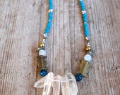 Enchanted Quartz Necklace with African Beads