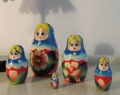 Vintage Russian Matryoshkas Nesting Dolls