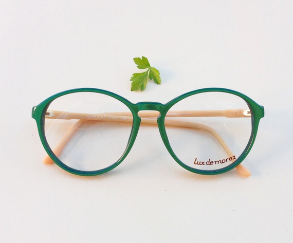 Frame Of Glasses In French : French Vintage Frames / 80s green rounded designer hipster