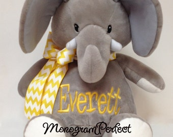 "16"" Personalized Plush Stuffed Elephant Soft Toy"