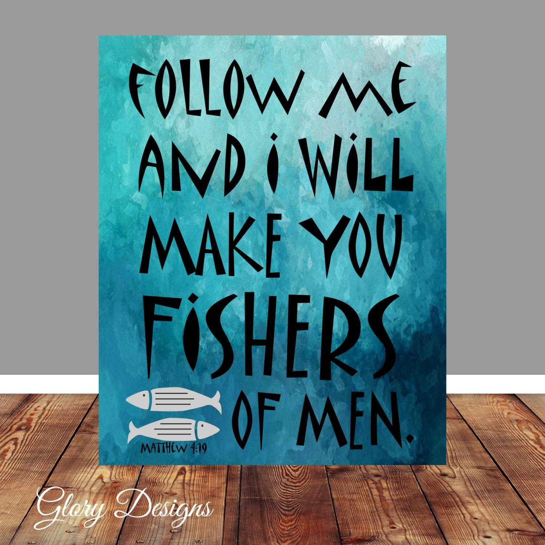 Bible verse bible verse printable scripture art scripture for Fishing in the bible