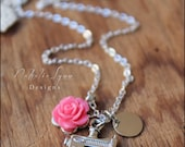 Sewing Necklace, Sewing Machine Necklace, Seamstress Necklace
