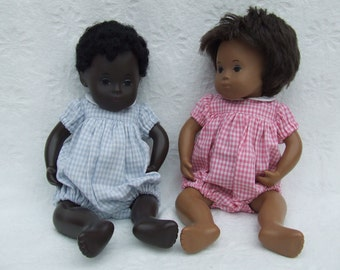 """Gingham Romper Outfit for 11/12"""" Baby Sasha doll"""