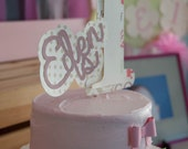 Custom number birthday cake topper - Kids or Adults - Personalized with 3D embellishment