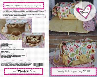 Trendy Doll Diaper Bag Pattern PDF