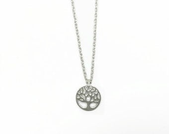 "Tiny Silver ""Tree of Life"" Necklace - Dainty, Simple, Birthday Gift, Wedding Bridesmaid Gift"