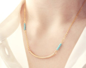 color pop bar necklace - dainty, geometric, minimalist jewelry  / gift for her under 20