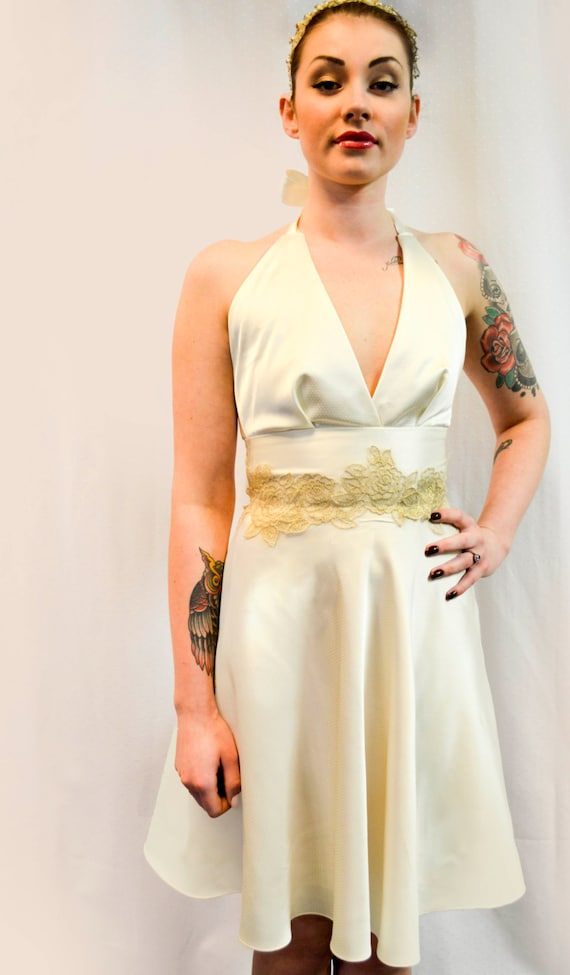 Marilyn dress wedding dress pin up dress ivory by for Vintage pin up wedding dresses