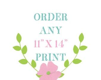 11 x 14 Nursery Print from Little Monde, Nursery Wall Decor, Baby Girl Nursery Prints, Baby Boy Nursery Print