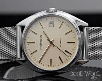 vintage automatic watch - pratina - prätina - 1970's