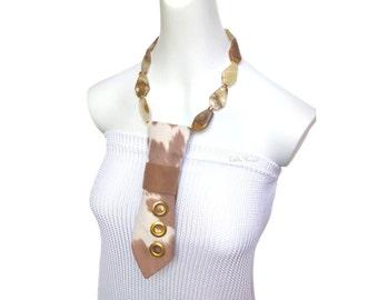BOVINE BEAUT Necktie necklace cowhide fabric modern necktie feminine tie women's necktie fashion accessory ladies neckties