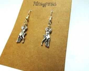 Deer Earrings, Baby Deer Earrings, Woodland Animal, Woodland Earrings, Bambi Earrings