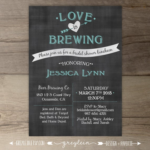 Love Is Brewing Bridal Shower Wedding Engagement Party
