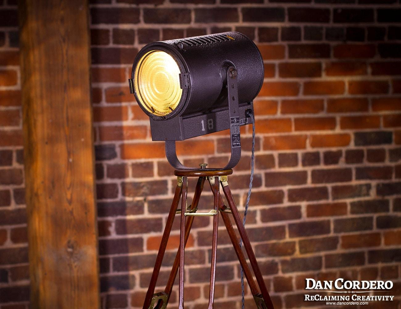 Vintage Stage Amp Studio Spotlight Floor Lamp