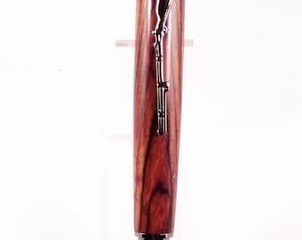 Handmade Cocobolo Rosewood Civil War Bullet Twist Ball Point Pen