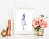 Olivia Digital Download 11x14 Fashion Print