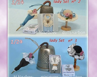 Hand made Lady Sets 1:24 scale