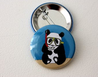 Panda Badge by Jurassic Panda