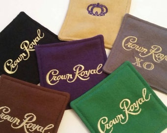 Ultimate Crown Royal Coaster Set, Set of 6, Classic Crown Royal, Black, Maple, Reserve, XO and Apple, Great Gift for Men, Gifts Under 30