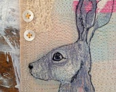 Little Hare Machine Embroidered Picture