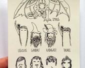 The Hobbit Postcard: Desolation of Smaug