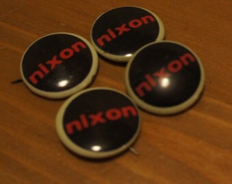 Authentic Miniature Richard Nixon Campaign Pin 1960's Great Condition Never Used