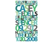 "CUSTOM Personalized ""Our Story"" Couple Typography Art"