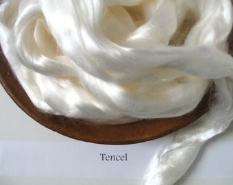 Tencel Lyocell Undyed Combed Fiber Top Roving for Spinning Dyeing Batts Handspinning Carding Blending