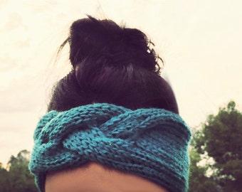 Braided Twist Knitted Headband, Knit Headband, Knit Beanie, Turban, Cute Turban Headband, Ear Warmer, Winter Hairband