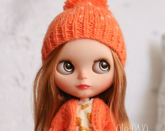 Blythe pompom beanie - Orange