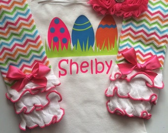 Baby Girl Easter Outfit- personalized outfit - baby girl spring outfit - newborn easter outfit - my first easter bodysuit