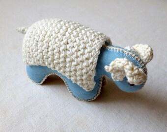 Baby Safe Soft Toy Ram Waldorf Stuffed Animal Organic Toy