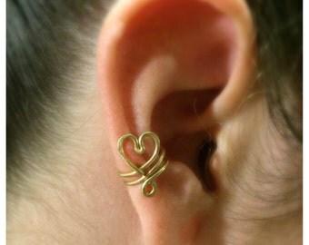 Heart Ear Cuff