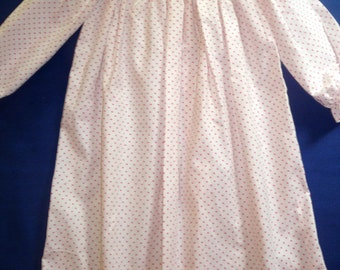 Polka dots bishop style gown