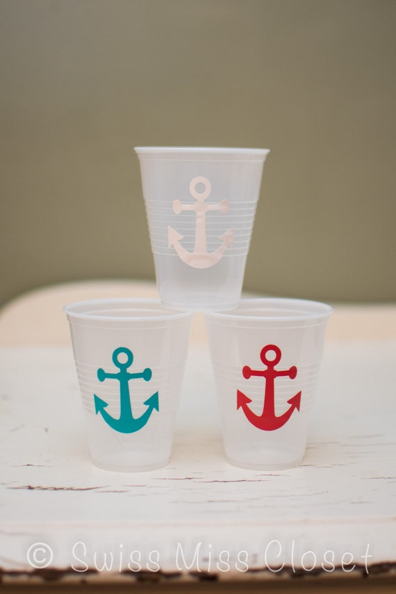 Pick Your Size & Color Vinyl Anchor Stickers Pick Your Color, Envelope Seals, Party Favors, Party Glasses, Unlimited Possiblities