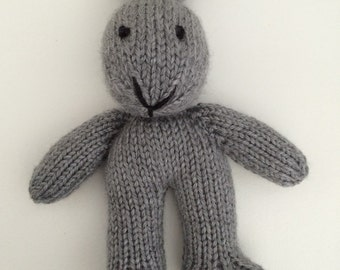 Mini Knitted Bunny - Rabbit - Photo Prop - Stuffed Bunny - Stuffed Animal - Soft Toy - Stocking Stuffer