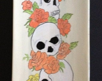 Sushi Plate with skulls and roses