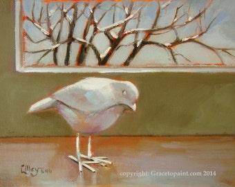 House Bird...Original Oil Painting by Maresa Lilley, SND