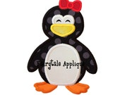 Digital Machine Embroidery Design -  Penguin Girl Applique