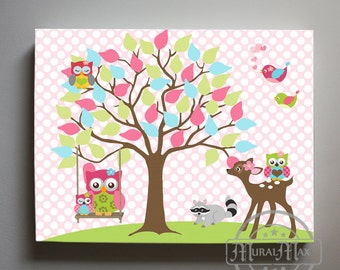 Kids Canvas Wall Art nursery art canvas art home decor and more..muralmax on etsy