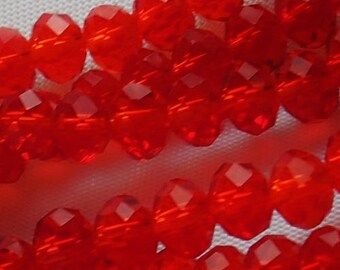 50pcs 4x6mm Red Crystals 6mm Rondelles Like LIGHT SIAM Swarovski 6x4mm A Grade Diy Jewelry Making Beads & Beading Supplies Light Red Beads