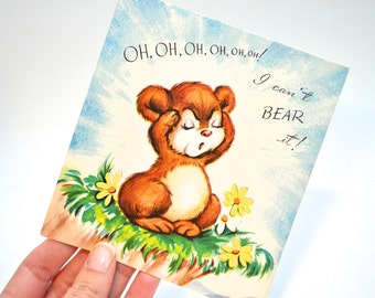 Vintage Get Well Card, Unused, Vintage Greeting Card, Cute Get Well Card, Funny Get Well Card, Child Get Well Card