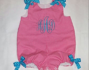Girls Initials Bubble Jumper - Romper