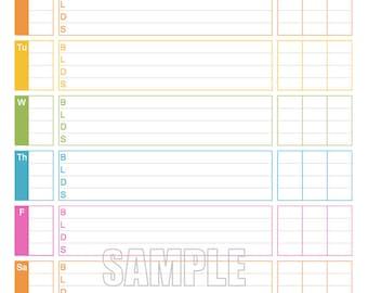 blood sugar log sheet download