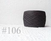 Linen yarn, antracit grey color # 106
